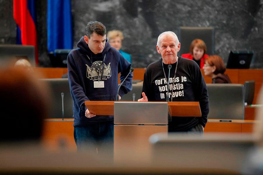 Rick Simpson @ Slovenian Parliament | FOTO: Matej Mitruševski